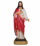 Resin Statue, Sagrado Corazon 12 in. 6 Pzs