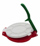 Plastic tortilla press. 5 pzs