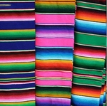 Mexican Small Zarape.  25 x 48 in. 6 pcs