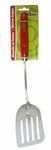 Red handle slotted turner - Volteador mango rojo.
