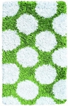 The Rug Market SHAG RUG POLKAMANIA LIME/WHITE