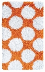 The Rug Market SHAG RUG POLKAMANIA ORANGE/WHITE