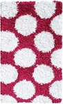 The Rug Market SHAG RUG POLKAMANIA RASPBERRY/WHITE