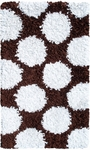 The Rug Market SHAG RUG POLKAMANIA BROWN/WHITE