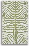 The Rug Market HOOK ZEBRA GREEN