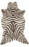 The Rug Market HOOK ZEBRA BROWN SHAPED