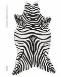 The Rug Market HOOK ZEBRA BLACK SHAPED