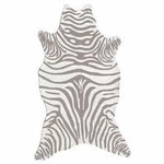 The Rug Market HOOK ZEBRA GREY SHAPED