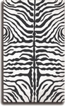 The Rug Market HOOK ZEBRA BLACK