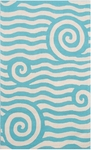 The Rug Market HOOK YALA BLUE/WHITE