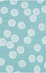 The Rug Market HOOK SAND DOLLAR BLUE