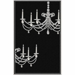 The Rug Market TUFTED CHANDELIER BLACK 5X8
