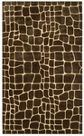 The Rug Market TUFTED 1-CROC BROWN 5X8