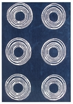 The Rug Market TUFTED CIRCLE NAVY 5X8