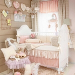 Glenna Jean Love Letters 5Pc Crib Bedding Set with Diaper Stacker