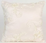 Glenna Jean Central Park Pillow - Cream Ribbon
