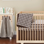 Skip Hop Chocolate Lattice Bedding Set