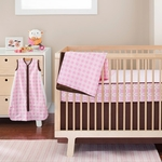 Skip Hop Pink Lattice Bedding Set