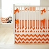New Arrivals Inc Zig Zag Baby in Tangerine Bedding Set 4 Pc