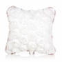 Glenna Jean Anastasia White Dimensional Rose Pillow