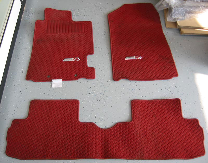 Used Jdm Integra Dc5 Type R Floor Mats Red