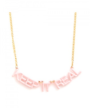 Keep it Real Party Banner Necklace