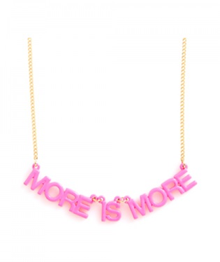 More is More Party Banner Necklace
