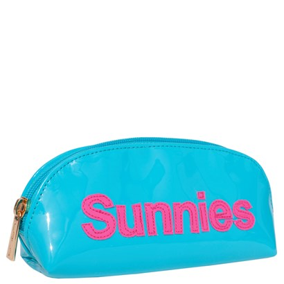 Turquoise with Pink Sunnies Eyeglass Case