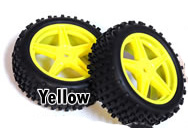 1/10th FRONT Buggy Wheels+Rims 2PCS (Yellow)