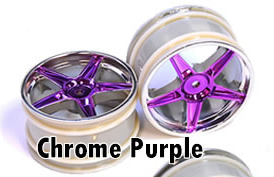 1/10 Rear  Buggy Rims 2PCS (Chrome Purple)