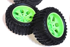 1/10th Truck Wheels+Rims 2PCS (Green)