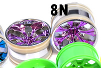 1/10th RC Truck Rims 2PCS (Chrome Purple)