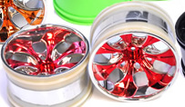 1/10th RC Truck Rims 2PCS (Chrome Red)