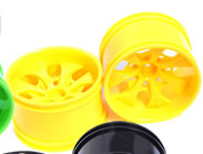 1/10th RC Truck Rims 2PCS (Yellow)