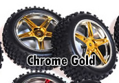 1/10th FRONT Buggy Wheels+Rims 2PCS (Chrome Gold)
