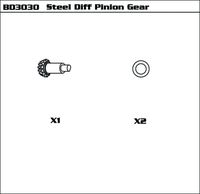 Steel Diff Pinion Gear
