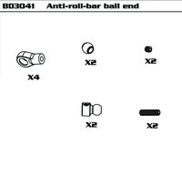 Anti-roll-bar ball end