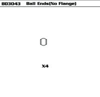 Ball ends(No Flange)