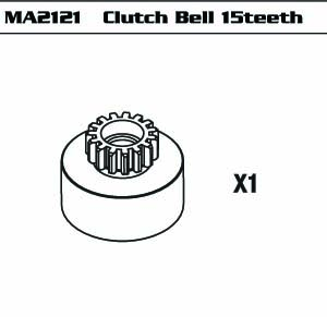 Clutch Bell 15 teeth (SET)  (For Gas Power Version)