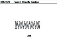 Front Shock Spring (SET) LE version
