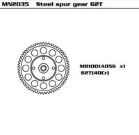 Steel Super Gear 62T (SET)