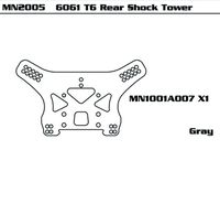 6061 T6 Rear Shock Tower (SET) RE version