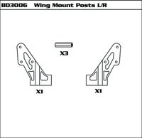 Wing Mount Posts L/R (SET)