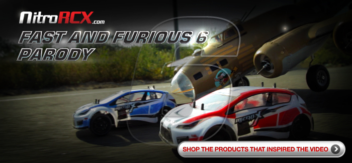 Modified Products Featured in the Making of NitroRCX.com's Fast and Furious 6 Parody Video