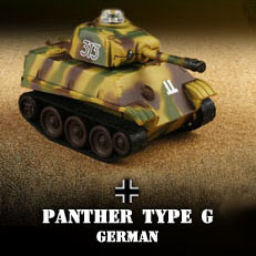 Miniature Mini Infra-Red Control Interactive Panther Type G Battle Tank