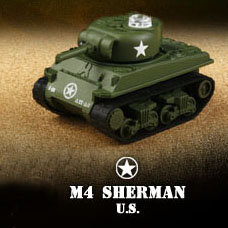 Miniature Mini Infra-Red Control Interactive M4 Sherman Battle Tank