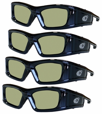 Active TV 3D Glasses 4 Pack