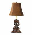 Fox Lamp With Faux Leather Shade