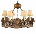 3 Small Fox Head Chandelier