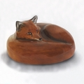 Fox Paper Weight